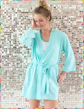 Mint Droplet Robe