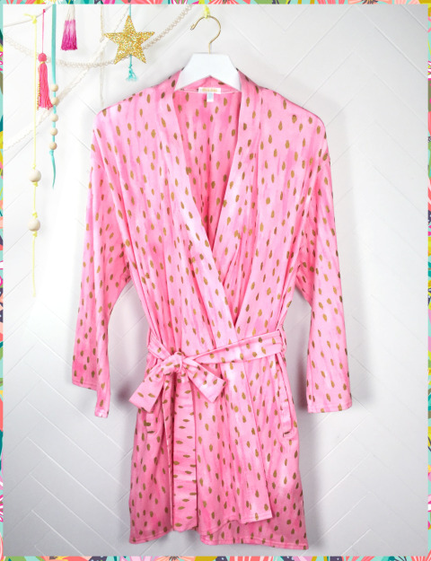 Pink Droplet Robe